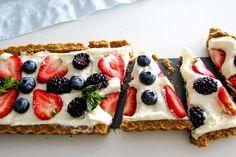 Italian Lemon Mascarpone Berry Tart Berry Tart, Tart Pan, Light Desserts, Tarts, Waffles, Berries, Lemon, Yummy Food, Breakfast