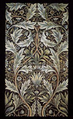 Morris & Co Thistle Wallpaper , Mulberry / Linen http://www.johnlewis.com/sanderson-william-morris-thistle-wallpapers