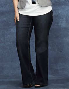 Our versatile trouser jean  dualFX for amazing shape retention that won't stretch out. Four pocket style, button & zip fly closure and belt loops complete the look. LYCRA dualFX denim is a Lane Bryant exclusive! lanebryant.com