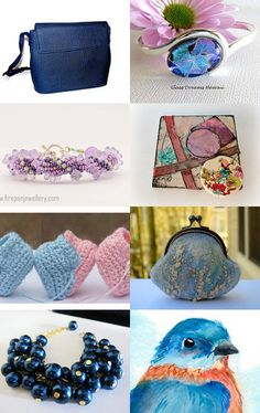 Pink and Blue by Marie ArtCollection on Etsy--Pinned with TreasuryPin.com