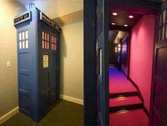 Doctor Who door idea! Hidden room lol