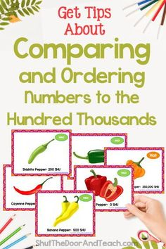 Step by step tips for teaching how to compare and order numbers to 1 million. Read how on Shut the Door and Teach. Upper Elementary Resources, Elementary Math, Math Games, Math Activities, Ordering Numbers, Fourth Grade Math, Common Core Math, Teacher Blogs, Math Classroom