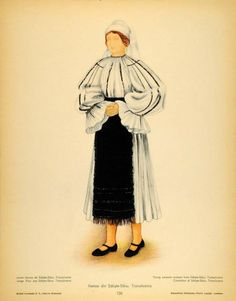 Folk Embroidery, Embroidery Patterns, Traditional Art, Traditional Outfits, Paper Dolls Clothing, Medieval Clothing, Antique Quilts, Embroidery Techniques, Romania