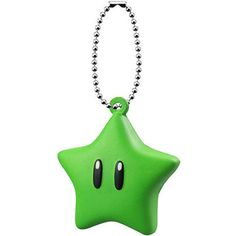 Super Mario 3D World Funyufunyu Mascot GREEN STAR Key chain Figure Squeeze Wii #Bandai