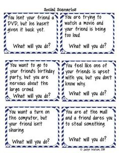 Life Skills Problem Solving: Social Skills Task Cards and Worksheets for middle/high school $