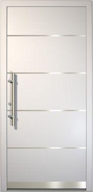 Puerta de aluminio Style Y03A vista exterior … #casasmodernasalberca
