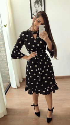 Swans Style is the top online fashion store for women. Shop sexy club dresses, jeans, shoes, bodysuits, skirts and more. Frock Fashion, Trend Fashion, Cute Fashion, Modest Fashion, Hijab Fashion, Fashion Dresses, Modest Dresses, Modest Outfits, Skirt Outfits