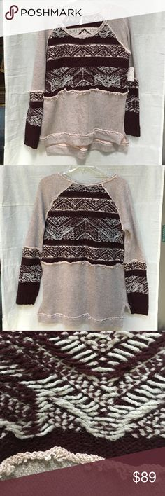 NWT Free People Snow Angel in Ballet Combo NWT Free People Nordic sweatshirt in ballet combo. Extra warm with a cozy look. 😊☮️💜✌️ Free People Tops Sweatshirts & Hoodies