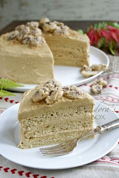 Caramel Cake with Sugared Pecans