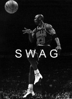 """Michael Jordan - one of my favorite athletes of all time. I don't know what """"Swag"""" is, but love Jordan. Jordan Basketball, Jordan Swag, Love And Basketball, Basketball Stuff, Jordan Bulls, Basketball Jones, Houston Basketball, Basketball Birthday, College Basketball"""
