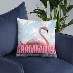 This impressive pillow of a fabulous flamingo and text Grammingo Like a Normal Grandma Only More Awesome will make a great gift for a grandma who loves flamingos. Flamingo Gifts, Watercolor Cat, Dad Mug, Mothers Day Presents, Elephant Design, Perfect Christmas Gifts, Gifts For Women, Birthday Gifts, Great Gifts