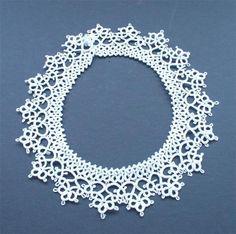 Superb Antique Tatting Cotton Handmade Lace Collar | eBay