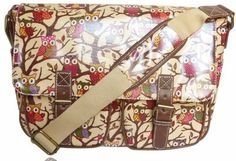 LYDC DESIGNER RETRO VINTAGE OWL LEAVES BEIGE CREAM OILCLOTH LADIES CROSS BODY SATCHEL MESSENGER SHOULDER SCHOOL HAND BAG Bags & Purses, http://www.amazon.co.uk/dp/B00BD4D77K/ref=cm_sw_r_pi_dp_FX6Qrb16X1HFR