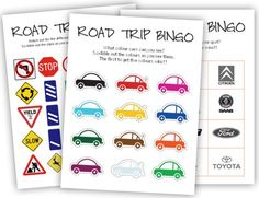 eye spy with my ikkle eye. Three new free and fun MollyMoo Printables to make the next car journey a little more enjoyable for 'little einstein' in the booster seat :) Car Bingo, Bingo Games, Road Trip Bingo, Road Trip Games, Travel Bingo, Car Travel, Travel Activities, Toddler Activities, Automobile
