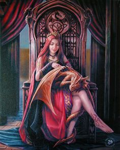 Friends Forever DRAGON Wall Plaque Art Print Anne Stokes Elf Maiden with Dragon