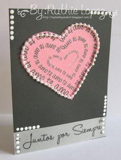 Color Paws sellos en español y mas ...: Tarjeta para San Valentin