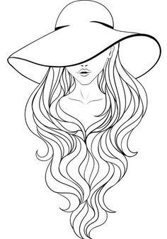 Doodle Art Drawing, Mandala Drawing, Mandala Art, Painting & Drawing, Drawing Hair, Drawing Faces, Drawing Tips, Art Drawings Sketches Simple, Pencil Art Drawings