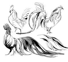 Random fact #2983: I love drawing chickens.