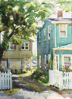 Illumination by Spencer Meagher Watercolor ~ 15 x 11. -Lovely play of light and shadows!