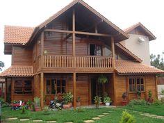 Quero uma casa de 100m² de madeira pré moldada, sendo que de 2 andares, no primeiro piso quero sala uma sala de estar, cozinha conjugada com sala de jantar, um...