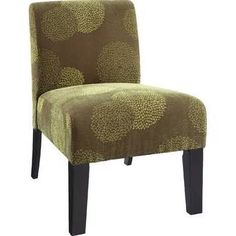 Deco Sunflower Fabric Slipper Chair DHI Color: Green Sunflower $85