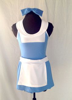 Belle inspired provincial blue racerback running outfit  Two piece; racerback top and skirt with white apron. The top will have the similar look of