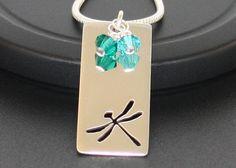 Sterling Silver Dragonfly Pendant Mothers by BelindaCarmichaelSJ, $60.00