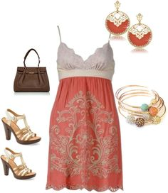"""summer dress"" by yiannab on Polyvore"