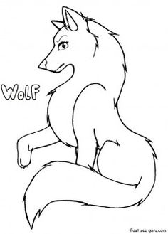 free printable wolf coloring pages printable coloring pages for kids - Kids Free Drawing