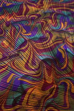 """""""Persian Night"""" marbled by Ingrid Butler"""