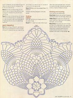 Crochet In Action: Pineapples yesterday and today Easter Crochet Patterns, Crochet Square Patterns, Crochet Diagram, Doily Patterns, Crochet Chart, Loom Patterns, Free Crochet, Crochet Vase, Crochet Dollies
