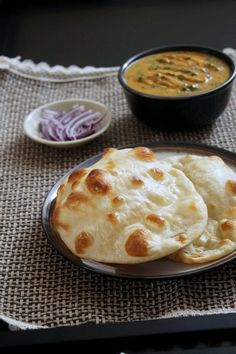 Naan Recipe or Homemade Naan Recipe with step by step photos- very soft and fluffy naan recipe and very easy to make. You can make in oven or on stove top.