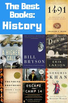 Best Books: History Find your inner history buff! How many of these timeless history books have you read? Start reading here! Books You Should Read, I Love Books, Great Books, My Books, Best Books Of All Time, Teen Books, Best History Books, Reading Challenge, Book Nooks