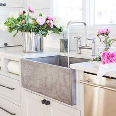 Light-Filled Farmhouse Kitchen. Indestructible sink