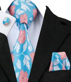 100% Silk Neck Tie Sets for Men - Hi-Tie