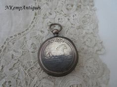 Antique silver pocket watch 1900 for the collector