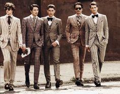 plaid suit!