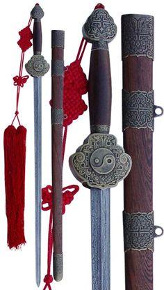 Damascus Steel Blade Tai Chi Sword (by Hanwei)