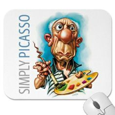 Funny Caricatures and History of Caricatures - Pablo Picasso Cartoon Faces, Funny Faces, Cartoon Art, Funny Caricatures, Celebrity Caricatures, Celebrity Drawings, Art And Illustration, Pablo Picasso, Independent Day