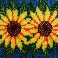 Wonderart Latch Hook Kit, Sunflowers