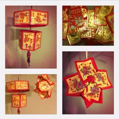 Happy Chinese New Year! ... Decorative lanterns from beautiful good luck red envelopes. :)