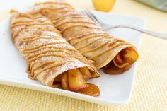 Apple Raisin Crepes Recipe Serves 4 INGREDIENTS   1 cup all-purpose flour  2 eggs  1/2 cup low-fat milk  1/2 cup water  1/4 teaspoon salt  2 Tablespoons melted butter  1 medium apple - pureed  1/4 cup raisins  2 Tablespoons brown sugar  1/4 teaspoon cinnamon  Note:   #apple #crepes #raisins