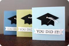 paper crafts: mini grad cards