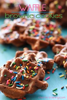 Waffle Brownie Cookies from chef-in-training.com ...These cookies are so easy to make and completely delicious! They are perfect for an after school snack!