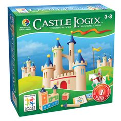 Castle Logix - Brainteaser Game by Smart Games - Help kids to develop logical thinking skills, strategic planning and visual and spatial perception. Sound like too much for the kids - it's not! It's a fun game that helps kids learn necessary life Logic Games, Logic Puzzles, 3d Puzzles, Wooden Puzzles, Wooden Blocks, Board Games For Kids, Educational Games, Brain Teasers, Toys Shop