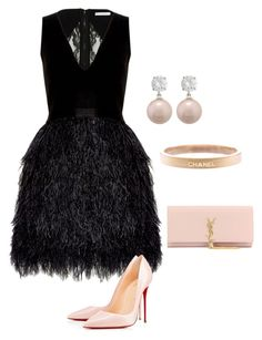 """"" by olivia-elk on Polyvore featuring Alice + Olivia, Christian Louboutin, Chanel, Yves Saint Laurent, women's clothing, women, female, woman, misses and juniors"