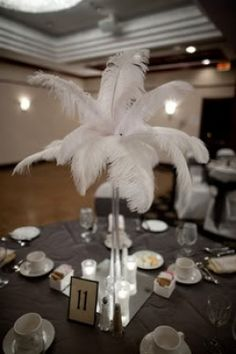 How to decorations with ostrich feathers http://www.partysuppliesnow.com.au