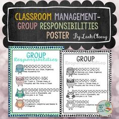 I hang this poster up in my classroom to remind students of their responsibilities in small groups. Before I started using this, dry erase boards would not be erased, markers would not be capped, and paper would be left all over the floor. With this poster, I assign each student a job in small group.