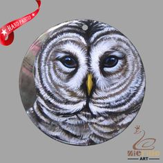 CREATIVE NECKLACE HAND PAINTED OWL SHELL PENDANT ZP30 01054 #ZL #PENDANT