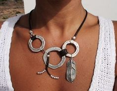collar asimétrico Boho joyas joyas de Bohemia joyería por kekugi                                                                                                                                                                                 Más
